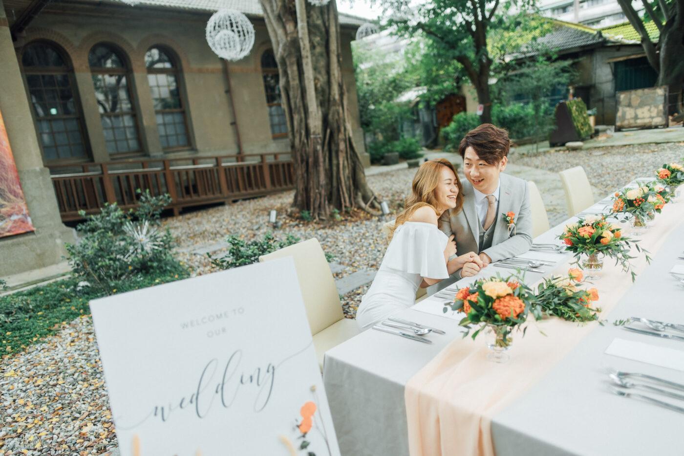 大院子婚禮,輕婚紗選擇